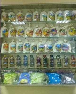 Дополнительные товары для продажи в соляной пещере
