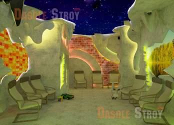 Соляная пещера дизайн люкс
