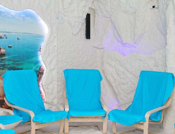 соляная пещера с креслами