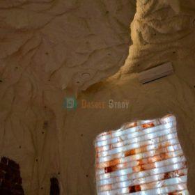 Двухуровневый потолок в соляной пещере