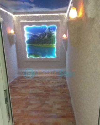 Соляная пещера с подсветкой и гималайской плиткой. Монтаж компании DasoleStroy