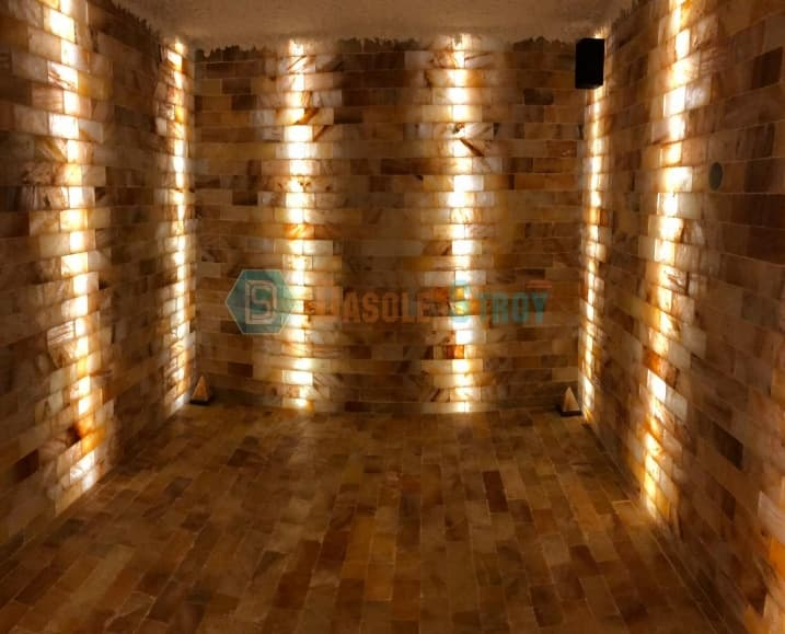Галокамера из гималайской плитки для частного детского сада