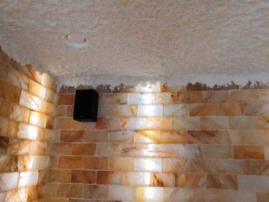 Соляное покрытие потолка в галокамере для детского сада. Монтаж под ключ. г. Новый Уренгой