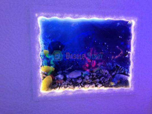 Монтаж солевой комнаты в морском стиле