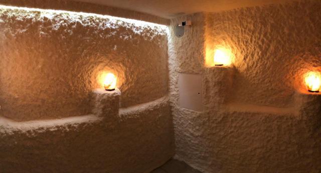 Изготовление соляной пещеры для фитнес-клуба