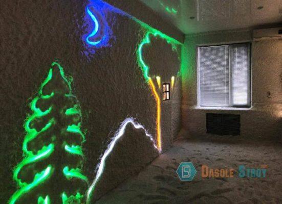 Дизайн соляной комнаты. Монтаж солевой пещеры в Оренбурге
