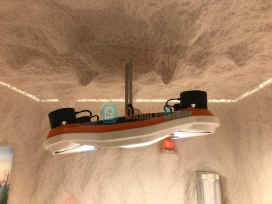 Дизайн соляной пещеры с искусственным солнцем