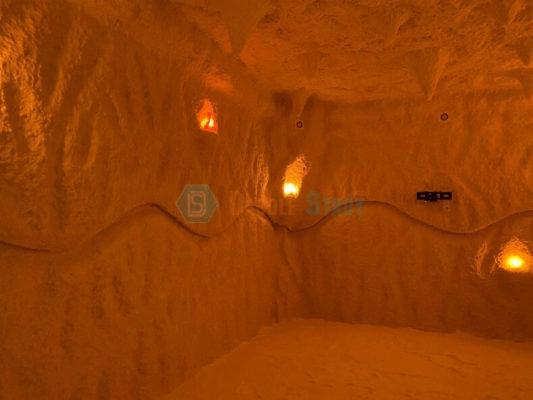 Монтаж соляной пещеры для туристического комплекса в Крыму, Алушта