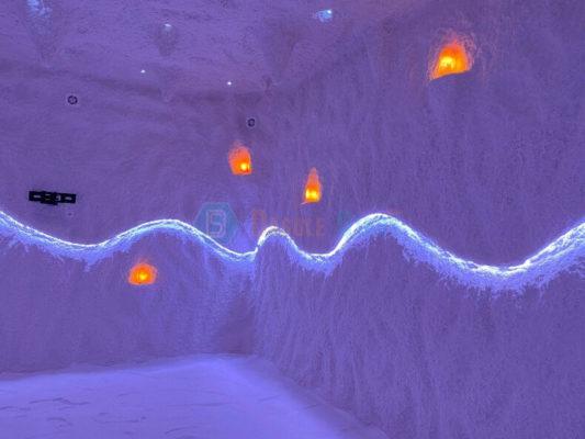 Строительство соляной пещеры для отеля Эллада